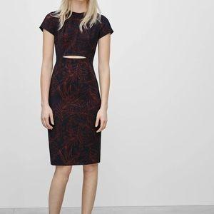 Size 2 Babaton Burgundy Prosper Midi Dress